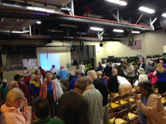 about 100 residents gathered at Point Lookout Firehouse for the presentation